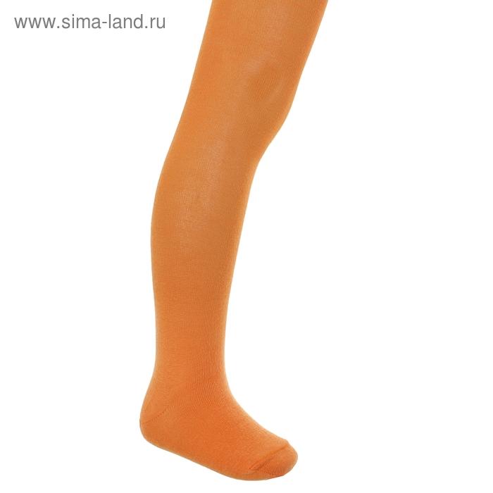 Колготки однотонные, рост 104-110 см, цвет оранжевый КДО