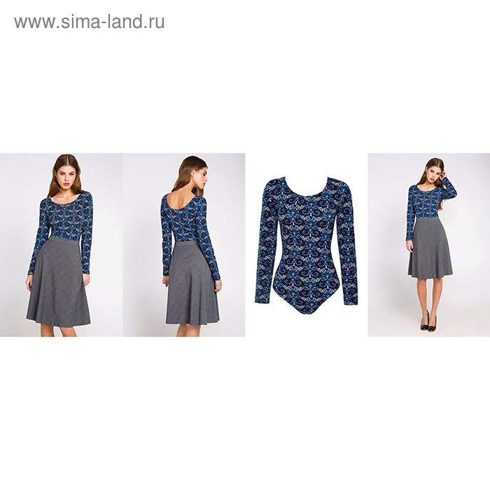 Блузка-боди женcкая 10200100010, размер 46 (M), рост 170 см, цвет МИКС