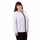Блузка женская 51900307, цвет белый, размер 54(3XL), рост 170