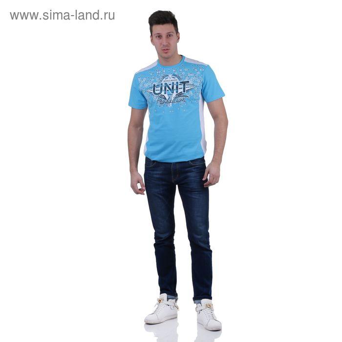 Футболка мужская, цвет голубой, размер L, супрем, фуллайкра (арт. 865)