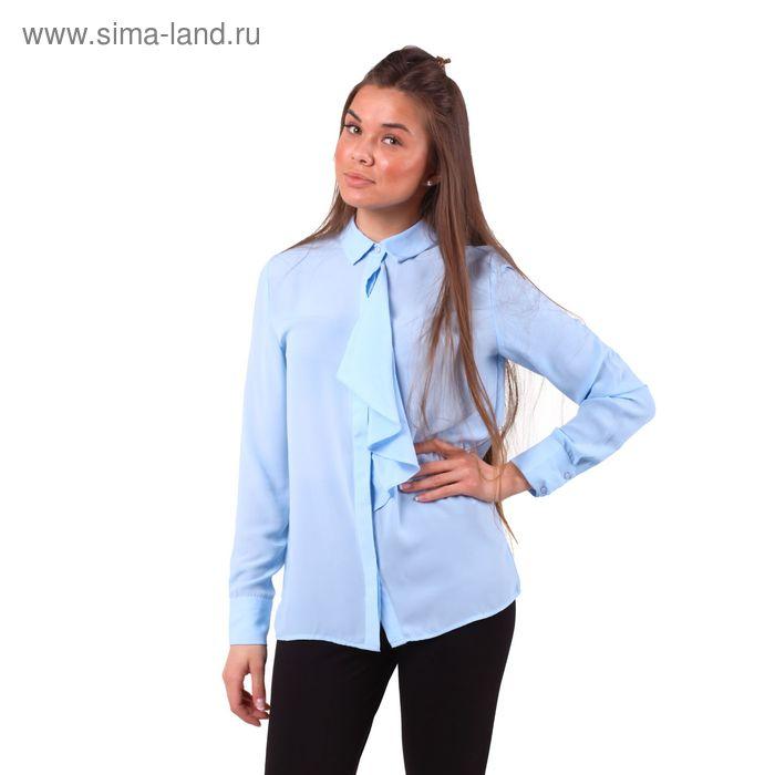 Блузка женcкая 10200260018, размер 48(XL), рост 170 см, цвет голубой