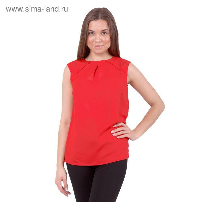 Блузка женская 10200270005, размер 42 (XS), рост 170 см, цвет красный