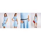 Платье женское 10200200024, размер 40 (XXS), рост 170 см, цвет голубой