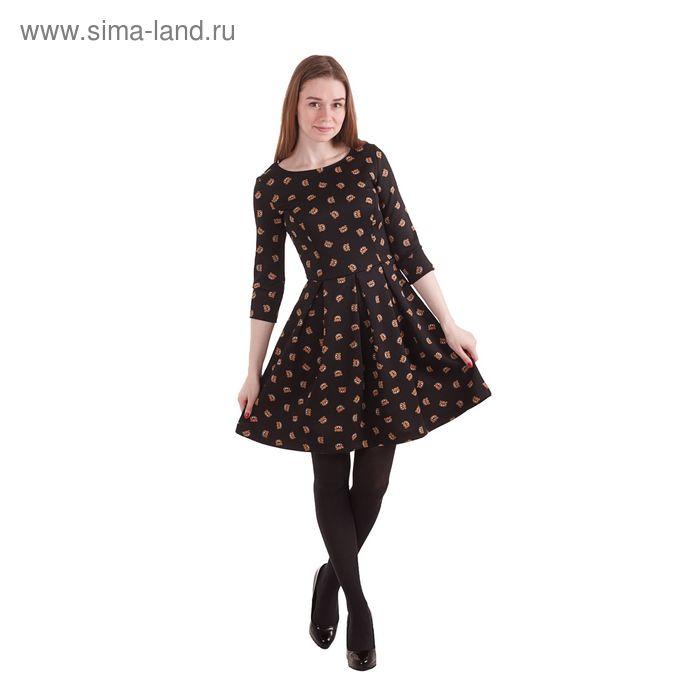 Платье женcкое 10200200022, размер 46 (M), рост 170 см, цвет черный