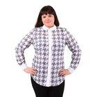 Блузка женская 51900348, цвет белый, размер 50(XL), рост 170