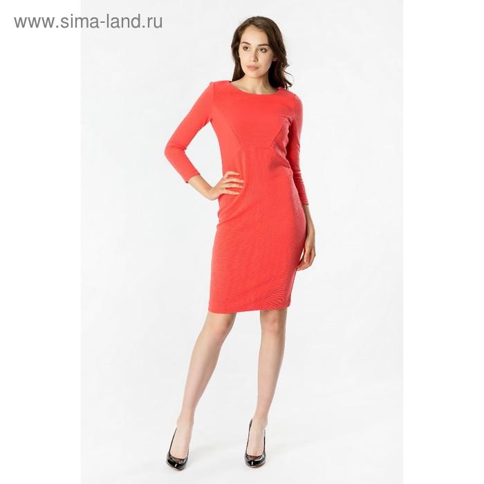 Платье женское 40200200072, размер 46 (M), рост 170 см, цвет коралл