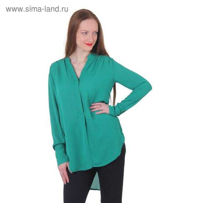 Блузка женская 40200260048, размер 48 (L), рост 170 см, цвет зелёный