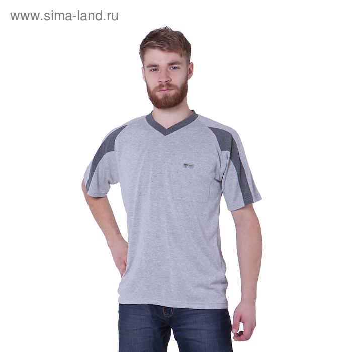 Футболка мужская, цвет серый меланж, размер XL, супрем (арт. 302)