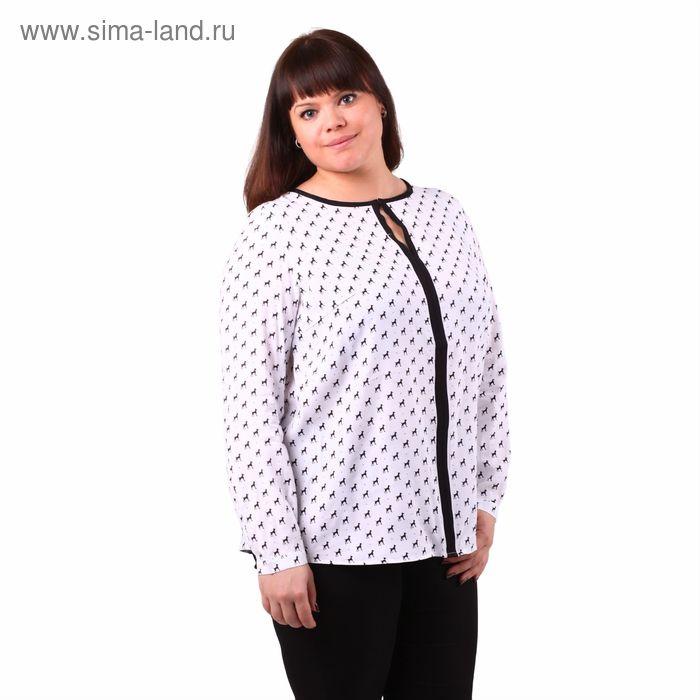 Блузка женская 51900307 С+, размер 52(XXL), рост 170см, цвет белый