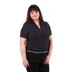 Блузка женская 51900344, цвет чёрный, размер 50(XL), рост 170