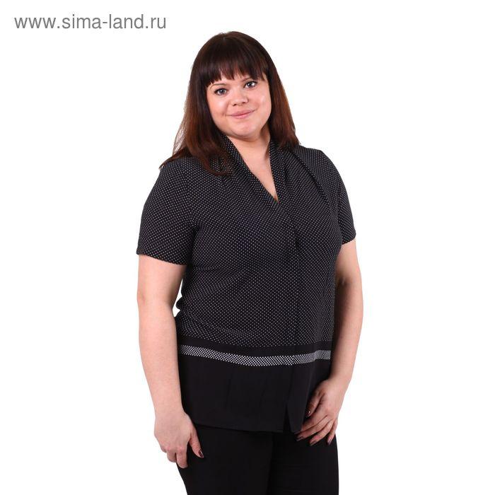 Блузка женская 51900344 С+, размер 58(5XL), рост 170см, цвет чёрный