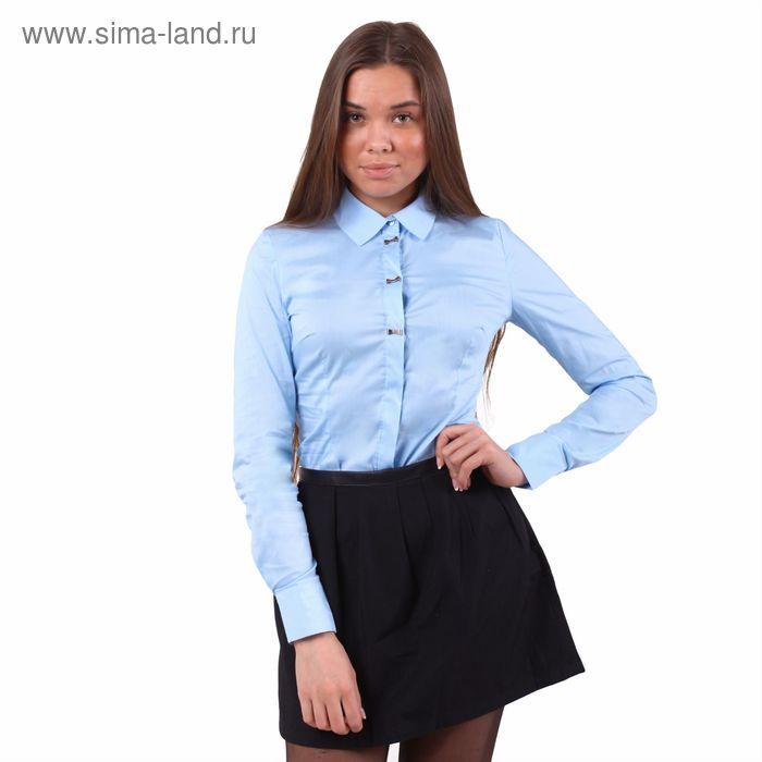 Блузка женская, размер 50 (XL), рост 170 см, цвет голубой (арт. 10200260021 С+)