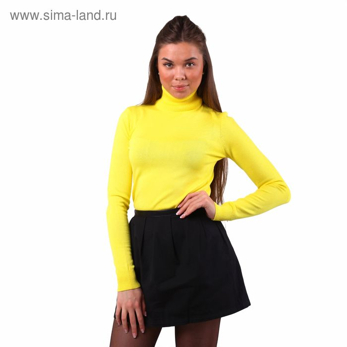 Свитер женский 40200320005, размер 40 (XXS), рост 170 см. цвет жёлтый
