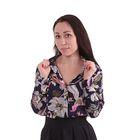 Блузка женская 40200260047, размер 40 (XXS), рост 170 см, цвет тёмно-синий