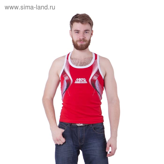 Майка мужская, цвет красный, размер XL, стрейч (арт. 251-05)