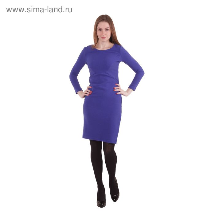 Платье женское, размер 50 (XL), рост 170 см, цвет синий (арт. 40200200072 С+)