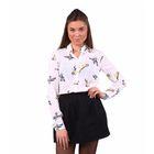 Блузка женская 40200260047, размер 40 (XXS), рост 170 см, цвет белый