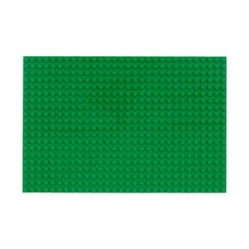 Пластина-основание для конструктора 16*24 см, зелёная Ош