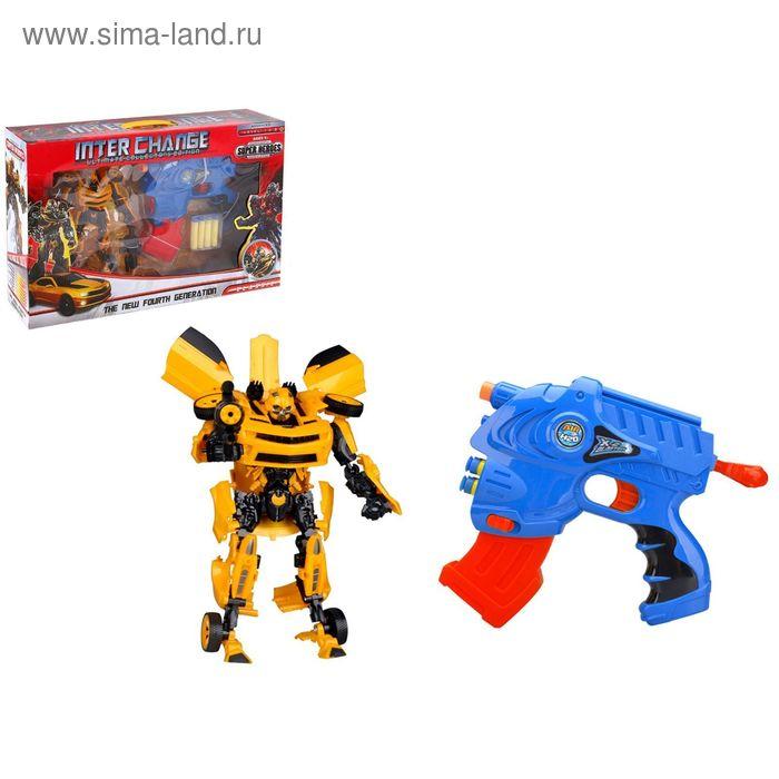 """Игровой набор """"Трансформер"""", с пистолетом, стреляет мягкими пулями, МИКС"""