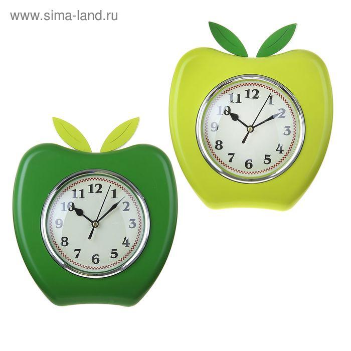 """Часы настенные кухонные """"Яблоко"""", циферблат белый, микс"""