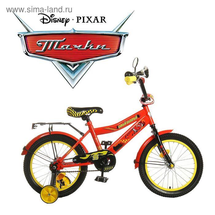"""Велосипед двухколесный 16"""" GRAFFITI """"ТАЧКИ"""", цвет: красный"""