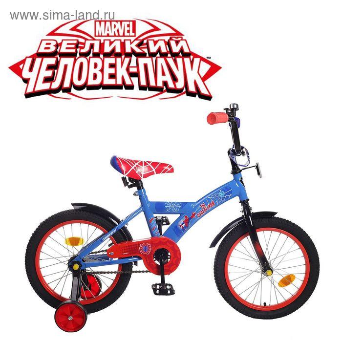 """Велосипед двухколесный 16"""" GRAFFITI """"ЧЕЛОВЕК ПАУК"""", цвет: синий"""