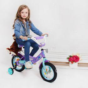 """Велосипед двухколесный 12"""" GRAFFITI """"ХОЛОДНОЕ СЕРДЦЕ"""", цвет: светло фиолетовый"""