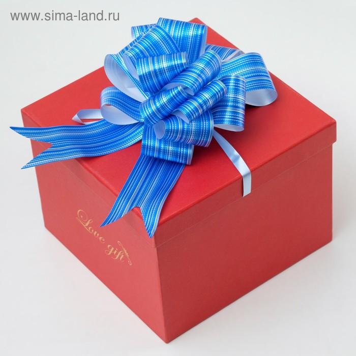 """Бант-шар №7 """"Тонкие полосы"""", цвет синий"""