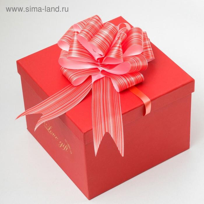 """Бант-шар №7 """"Тонкие полосы"""", цвет красный"""