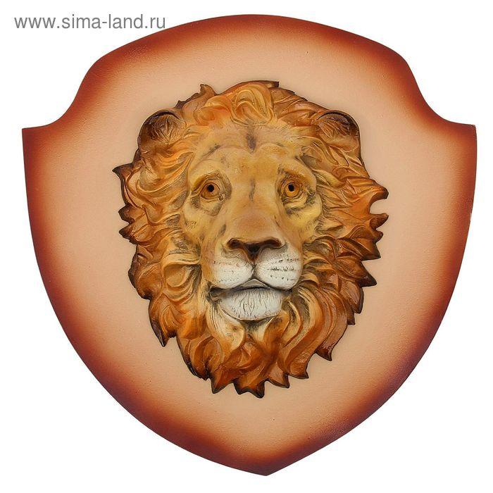 "Панно ""Голова льва"" бежевый щит"