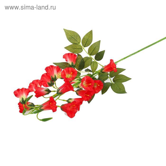 """Цветы искусственные """"Колокольчики"""" бело-красные"""