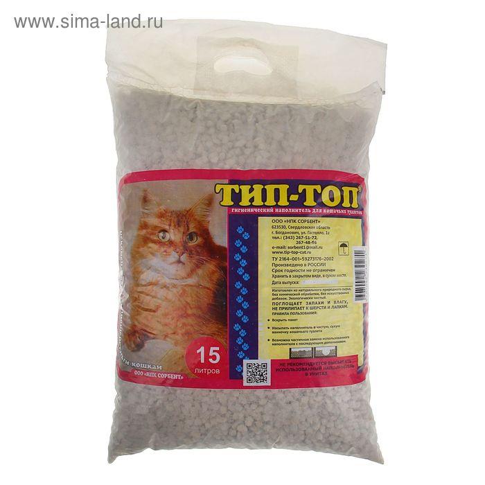 """Наполнитель минеральный впитывающий для длинношерстных кошек """"ТИП-ТОП"""" 15 л"""