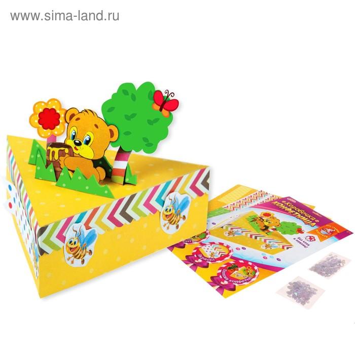 """Набор для создания коробочки-конфетницы """"Мишка"""" + декор"""