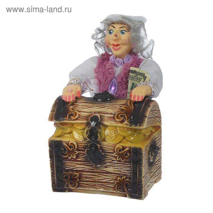 """Копилка """"Баба Яга с сундуком"""" микс"""
