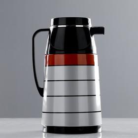Термос 1000 мл «Полосы», кофейник, держит тепло 10ч, микс, 15х24 см