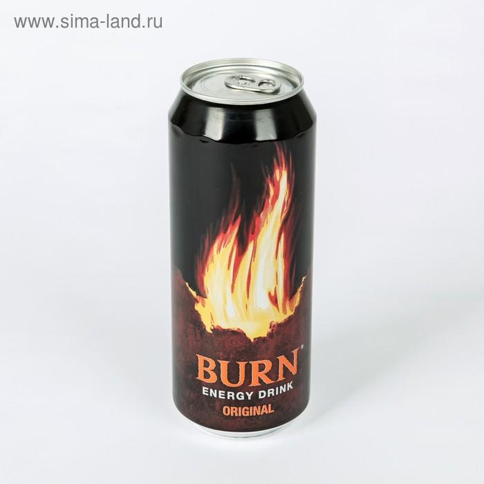 Энергетический напиток Burn, жестяная банка, 0,5 л