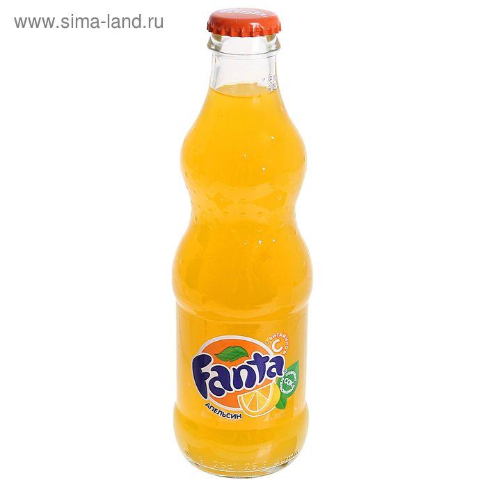 Вода газированная Fanta, aпельсин, 0,25 л