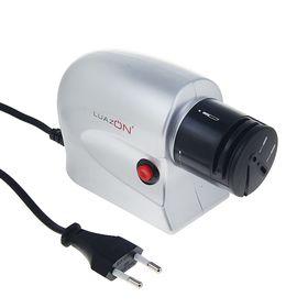 Точилка LuazON LTE-01, электрическая, для ножей, ножниц, отвёрток, 20 Вт, серая