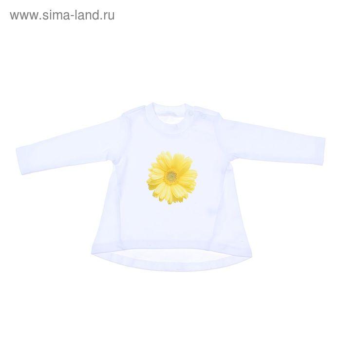 """Туника для девочки """"Ромашка"""", рост 80 см (48), цвет жёлтый/белый 7062"""