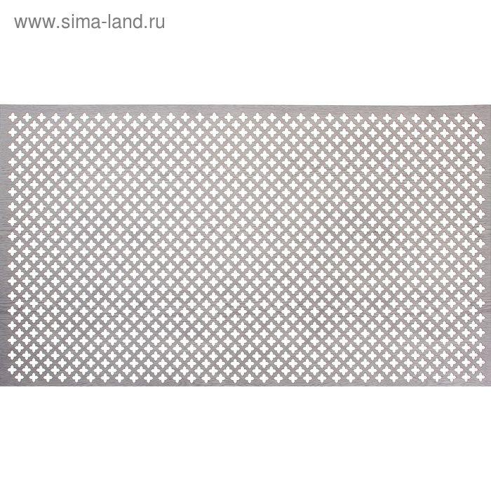 Панель перфорированная ХДФ  Лотос Пепельный 780х1400х3 мм
