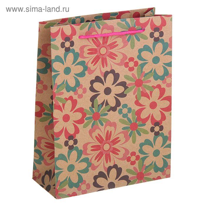 """Пакет крафт """"Летние цветы"""""""