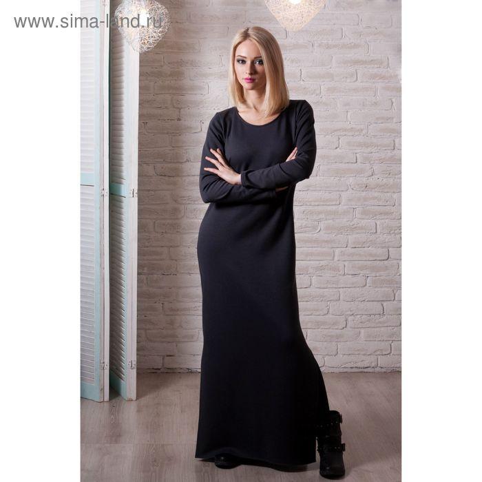 Платье женское, размер 50, рост 168 см, цвет чёрный (арт. 1535 С+)