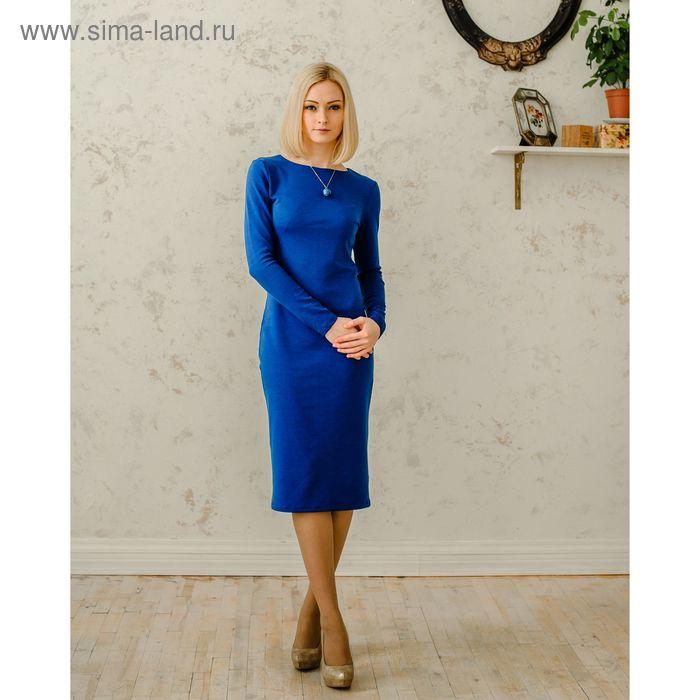 Платье женское, размер 50, рост 168 см, цвет синий (арт. 1522 С+)