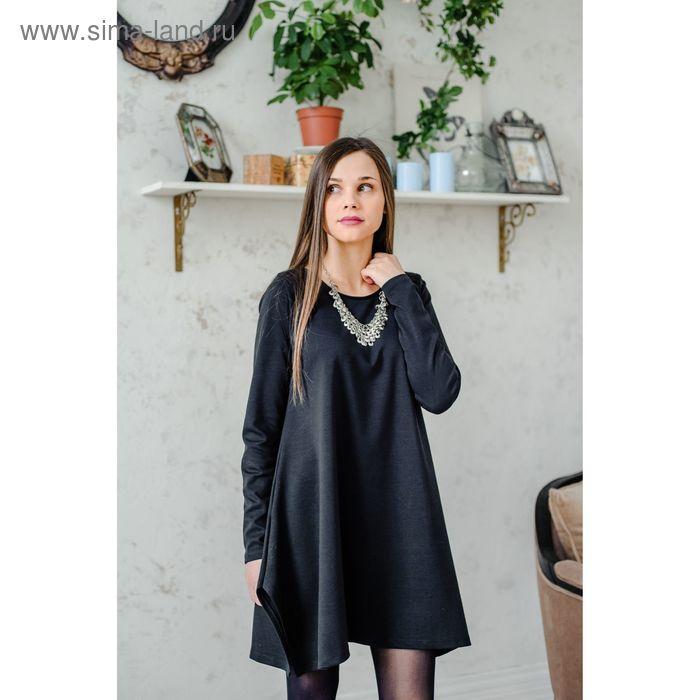 Блузка женская, размер 50, рост 168 см, цвет чёрный (арт. 15-96961 С+)