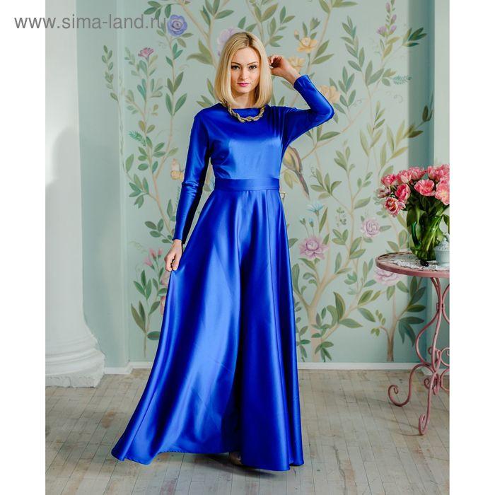 Платье женское, размер 44, рост 168 см, цвет синий (арт. 1580)