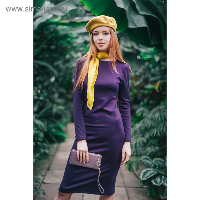 Платье женское, размер 50, рост 168 см, цвет баклажан (арт. 1522 С+)
