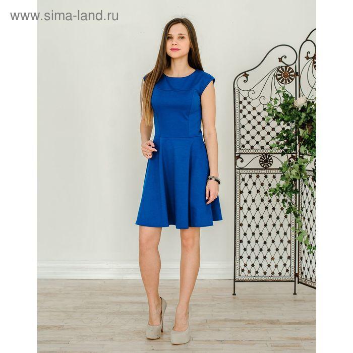 Платье женское, размер 48, рост 168 см, цвет синий (арт. 1523)