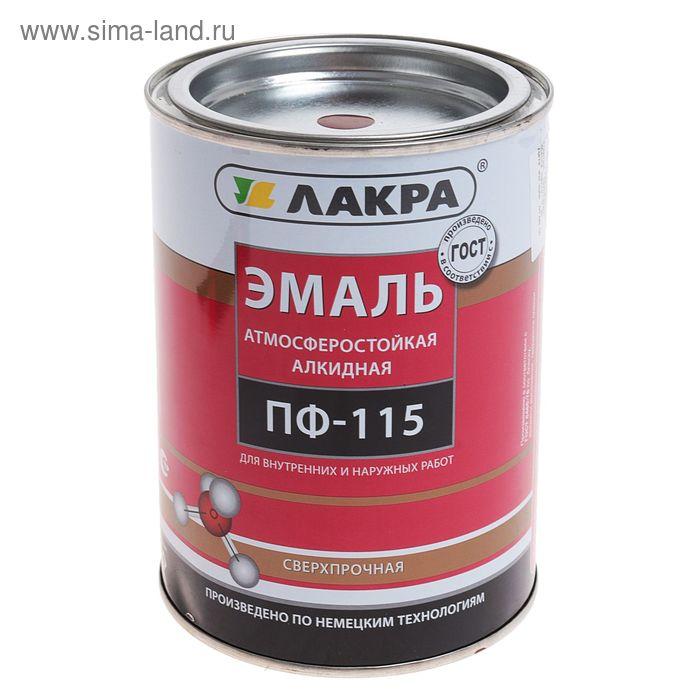 Эмаль ПФ-115  коричневая 1,0 кг