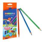 Карандаши акварельные 12 цветов + кисточка + точилка Y-Plus RAINBOW DPX1302