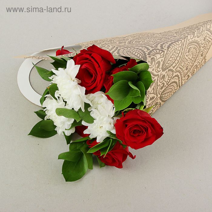 "Пакет для цветов ""Вышивка"", кувшин, 37 х 18 см"